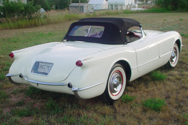 1953 CHEVROLET CORVETTE ROADSTER - Rear 3/4 - 20955