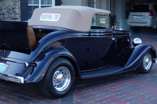 1934 FORD CABRIOLET STREET ROD - Rear 3/4 - 20974