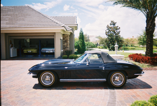 1965 CHEVROLET CORVETTE 327 CONVERTIBLE - Side Profile - 20975