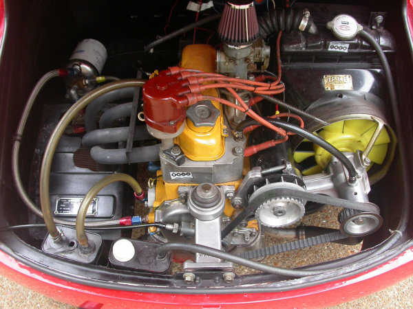 1961 FIAT ABARTH RECORD MONZA 850 ZAGATO COUPE - Engine - 20989