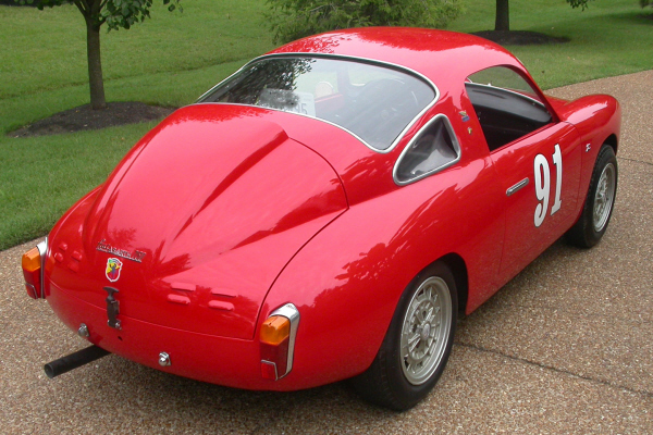 1961 FIAT ABARTH RECORD MONZA 850 ZAGATO COUPE - Rear 3/4 - 20989
