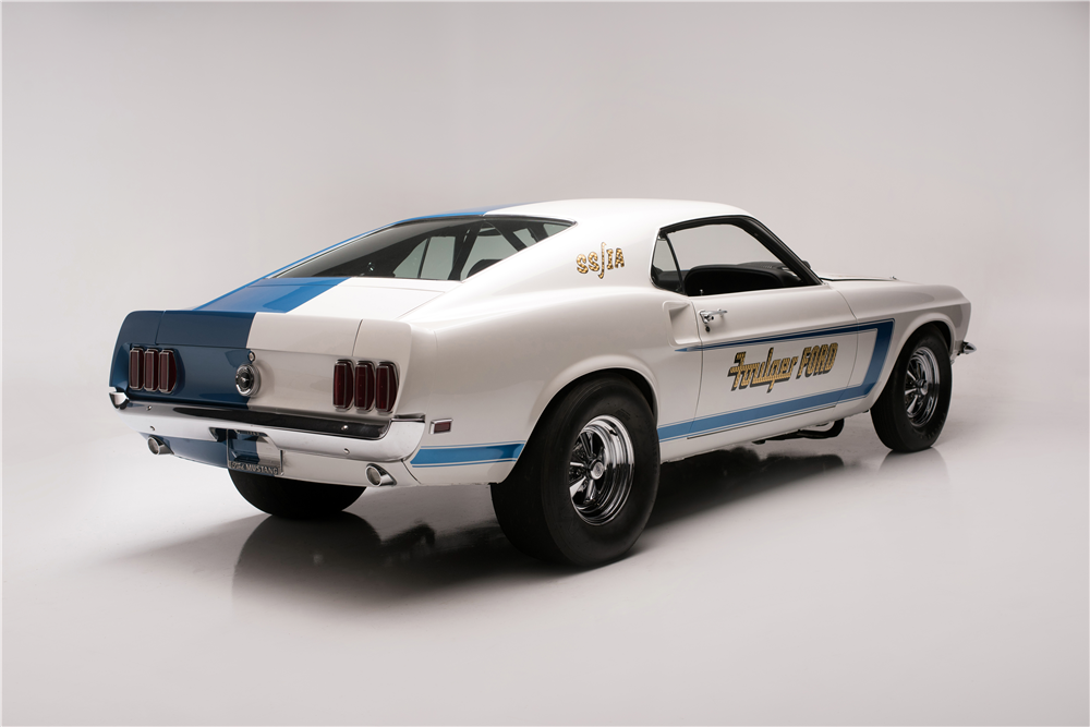 1969 FORD MUSTANG 428 CJ-R DRAG CAR - Rear 3/4 - 210006
