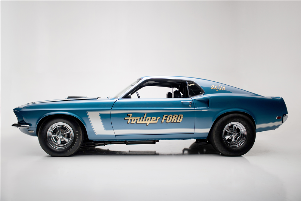 1969 FORD MUSTANG 428 CJ-R DRAG CAR - Side Profile - 210006