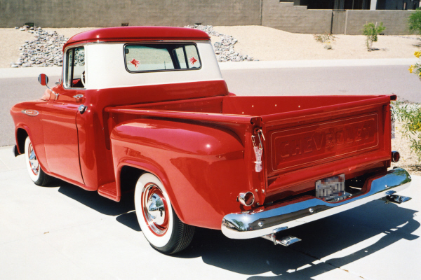 1957 CHEVROLET 1/2 TON PICKUP - Rear 3/4 - 21006
