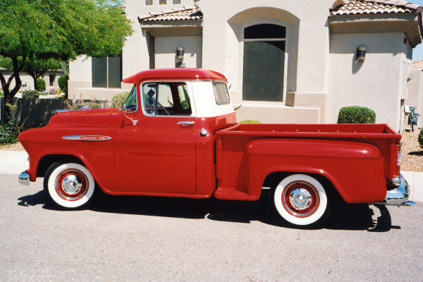 1957 CHEVROLET 1/2 TON PICKUP - Side Profile - 21006