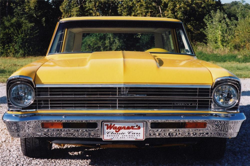 1967 CHEVROLET NOVA CUSTOM STATION WAGON - Side Profile - 21009