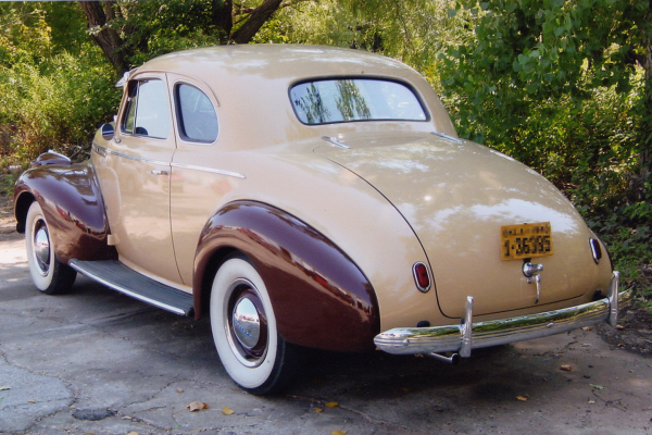 1940 CHEVROLET 2 DOOR BUSINESS COUPE - Rear 3/4 - 21033