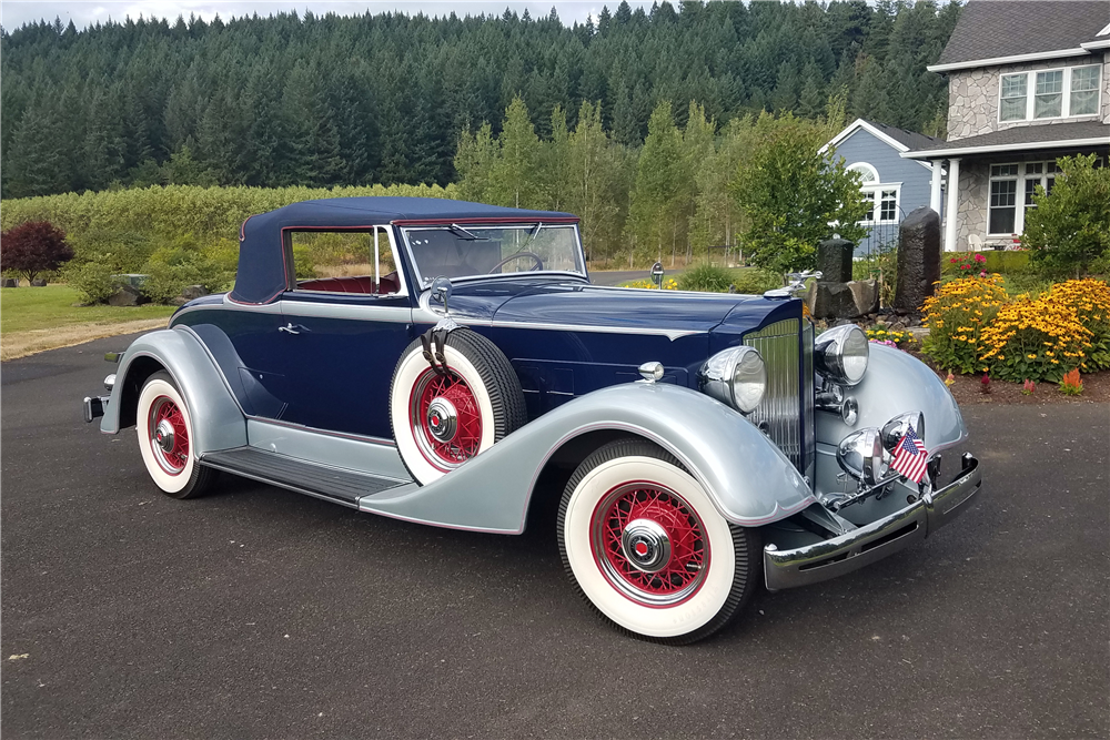 1934 PACKARD 1101 CABRIOLET - Front 3/4 - 210385