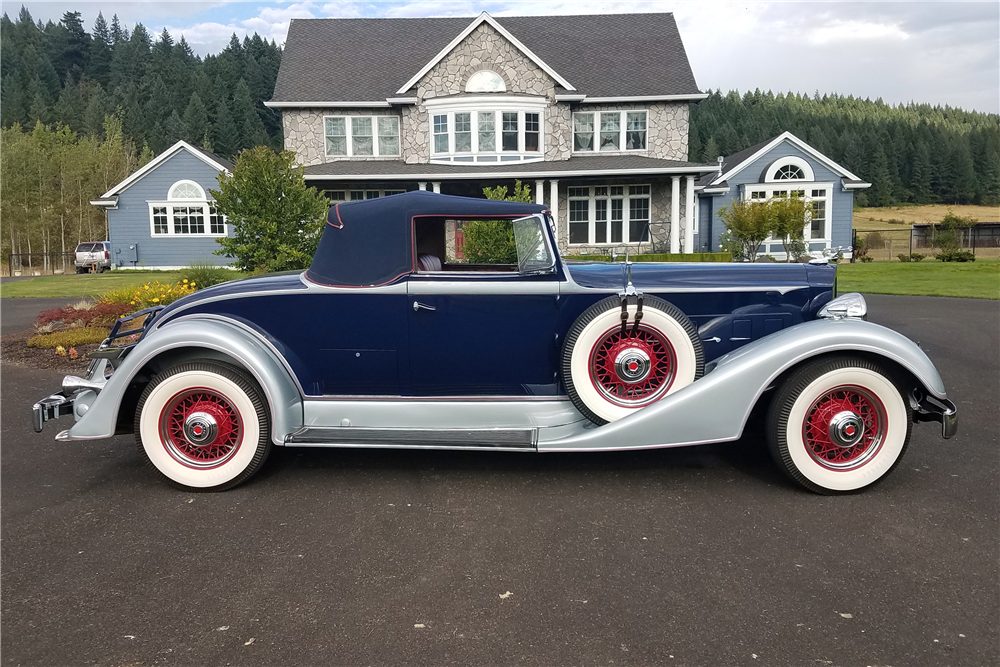1934 PACKARD 1101 CABRIOLET - Side Profile - 210385