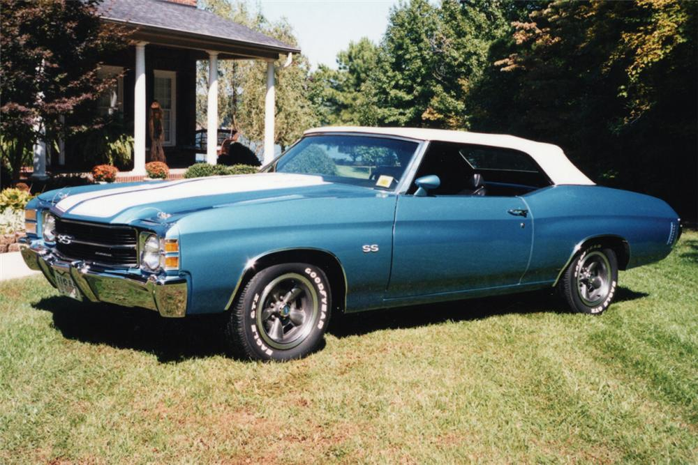1971 CHEVROLET CHEVELLE SS CONVERTIBLE - Front 3/4 - 21065