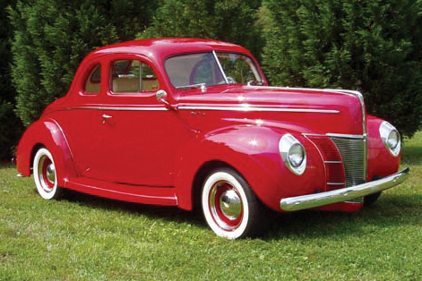 1940 FORD DELUXE CUSTOM 2 DOOR COUPE - Front 3/4 - 21075