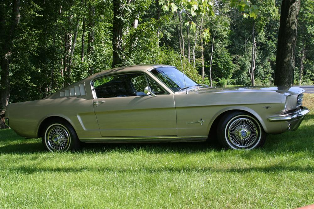 1965 FORD MUSTANG FASTBACK - Side Profile - 21078