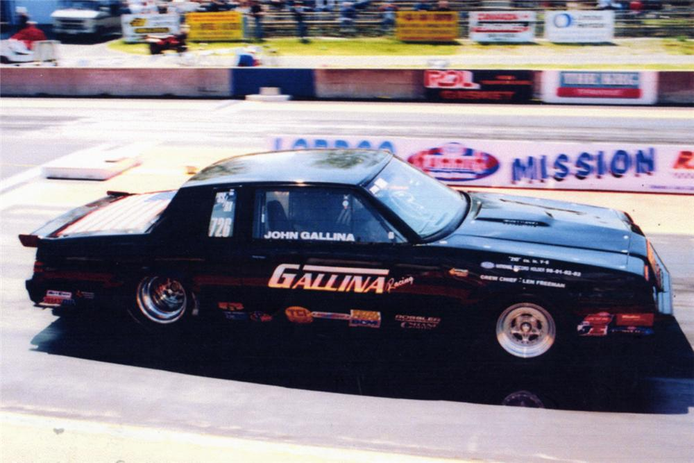 1987 BUICK REGAL GRAND NATIONAL NHRA RECORD HOLDING DRAG RACER - Front 3/4 - 21086