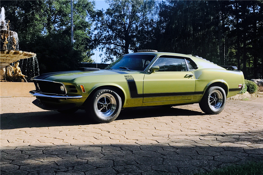 1970 FORD MUSTANG BOSS 302 - Front 3/4 - 210906