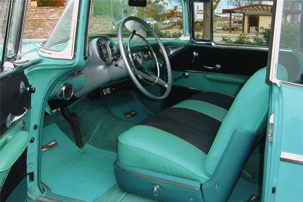 1957 CHEVROLET BEL AIR FI 2 DOOR HARDTOP - Interior - 21097