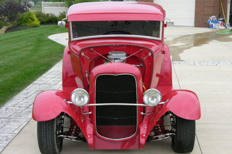 1931 FORD 5 WINDOW CUSTOM COUPE - Rear 3/4 - 21153