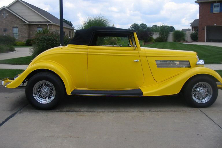 1934 FORD 2 DOOR CUSTOM - Side Profile - 21154