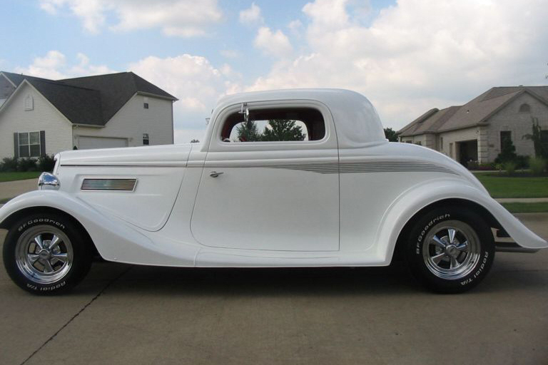 1934 FORD 5 WINDOW CUSTOM COUPE - Front 3/4 - 21156