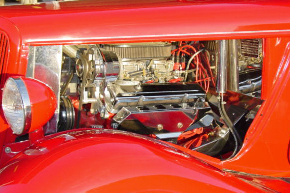 1934 FORD CUSTOM SEDAN - Engine - 21158
