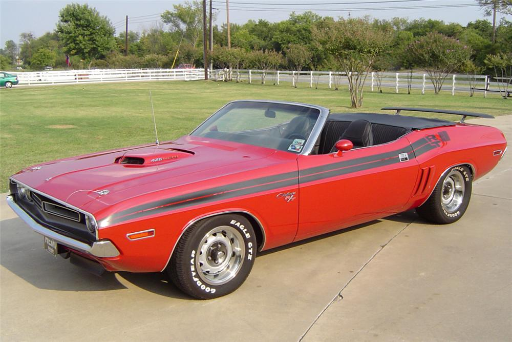 1971 DODGE CHALLENGER CONVERTIBLE HEMI RE-CREATION - Front 3/4 - 21174