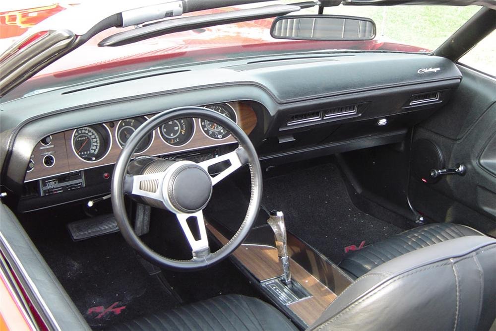 1971 DODGE CHALLENGER CONVERTIBLE HEMI RE-CREATION - Interior - 21174