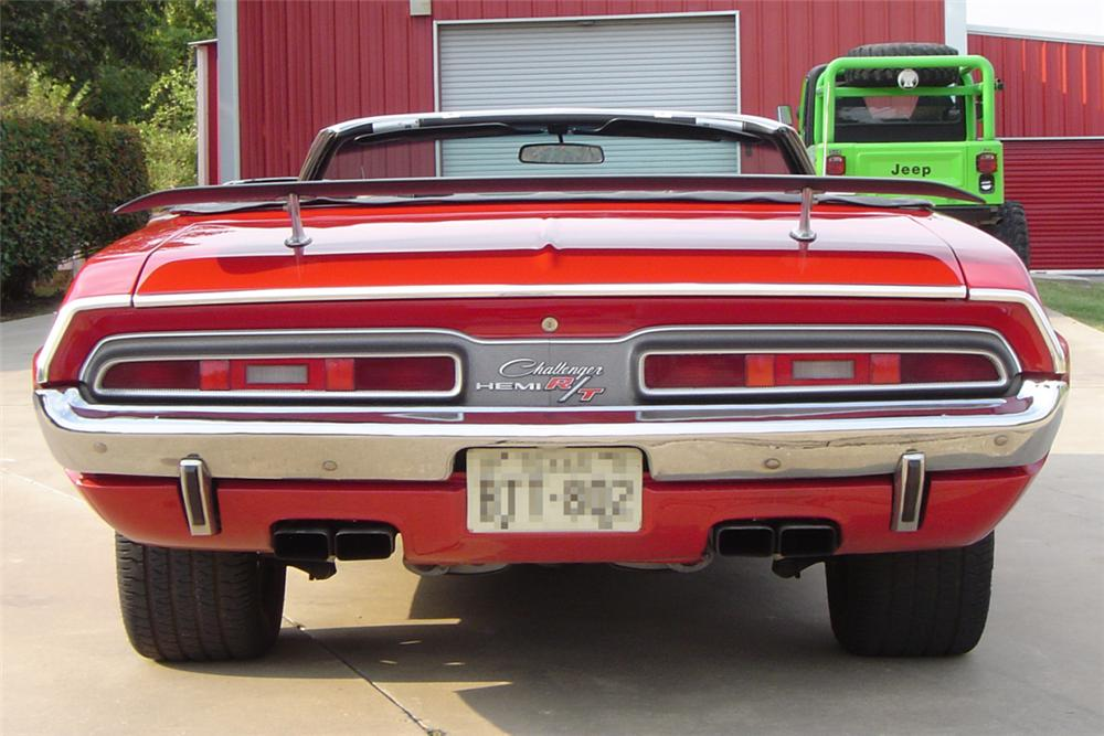 1971 DODGE CHALLENGER CONVERTIBLE HEMI RE-CREATION - Rear 3/4 - 21174
