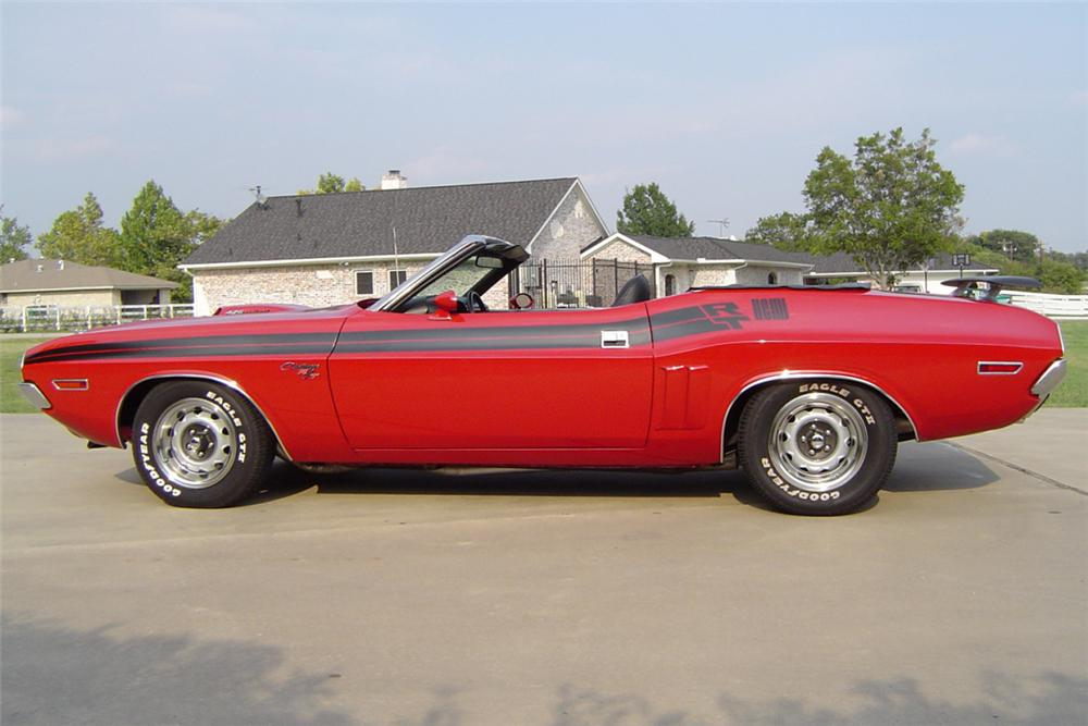 1971 DODGE CHALLENGER CONVERTIBLE HEMI RE-CREATION - Side Profile - 21174
