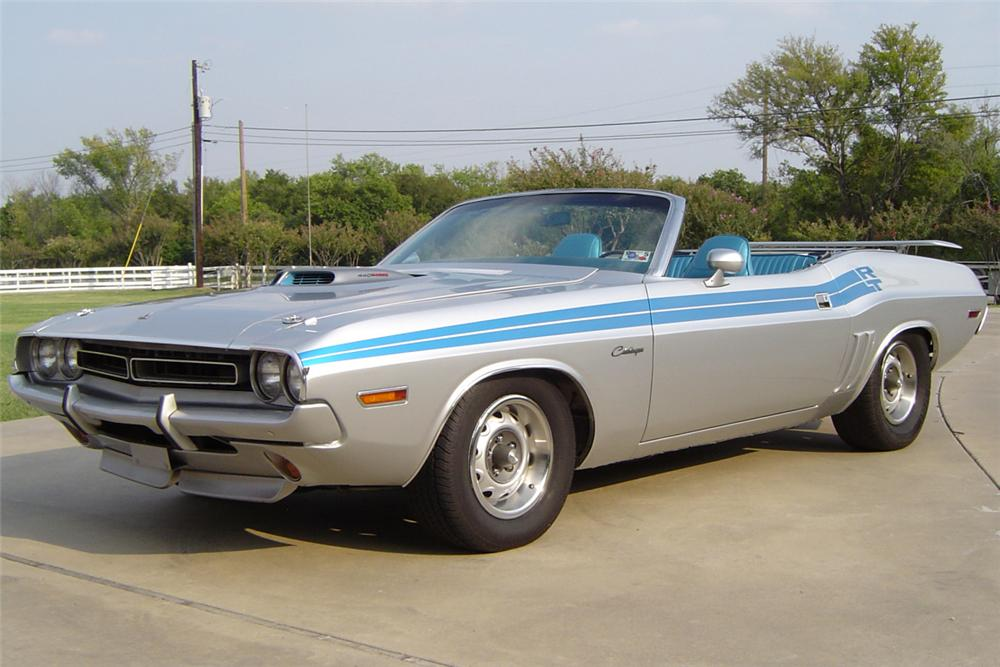 1971 DODGE CHALLENGER CONVERTIBLE 440 RE-CREATION - Front 3/4 - 21175