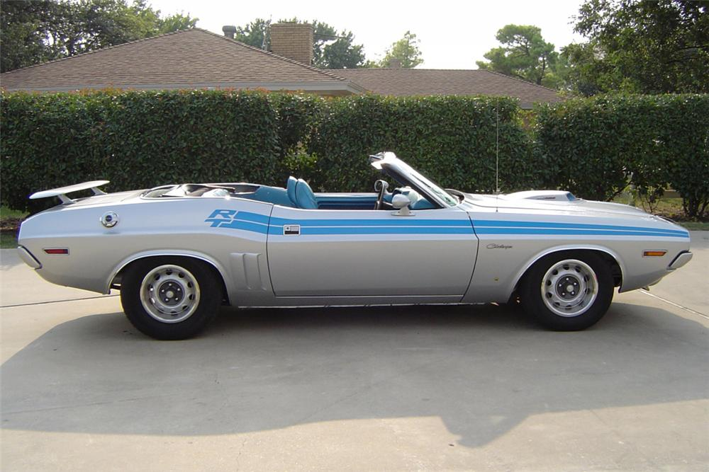1971 DODGE CHALLENGER CONVERTIBLE 440 RE-CREATION - Side Profile - 21175