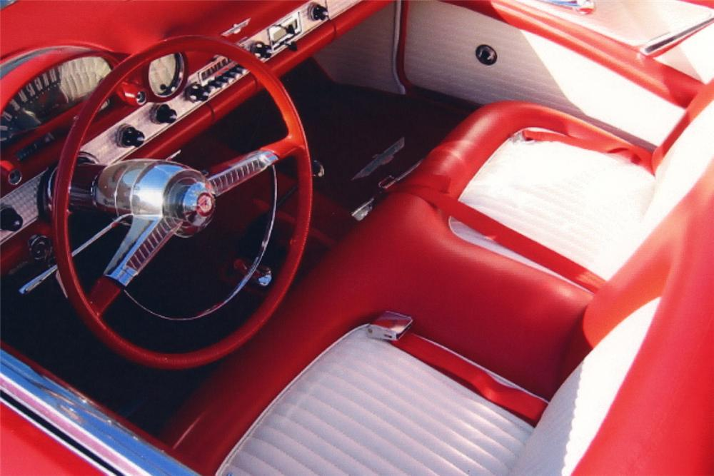 1955 FORD THUNDERBIRD CONVERTIBLE - Interior - 21189