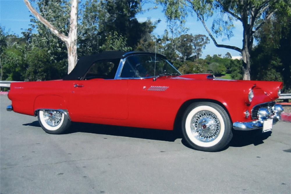 1955 FORD THUNDERBIRD CONVERTIBLE - Side Profile - 21189