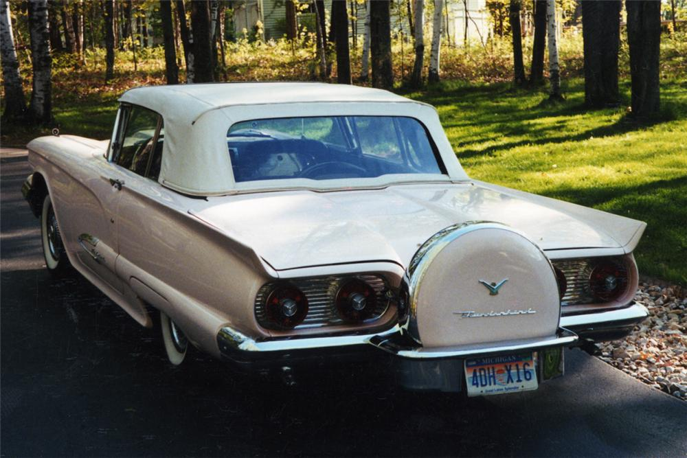 1959 FORD THUNDERBIRD CONVERTIBLE - Rear 3/4 - 21210