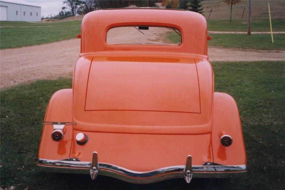 1934 FORD 3 WINDOW COUPE STREET ROD - Rear 3/4 - 21211