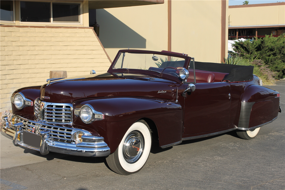 1947 LINCOLN CONTINENTAL CABRIOLET - Front 3/4 - 212117