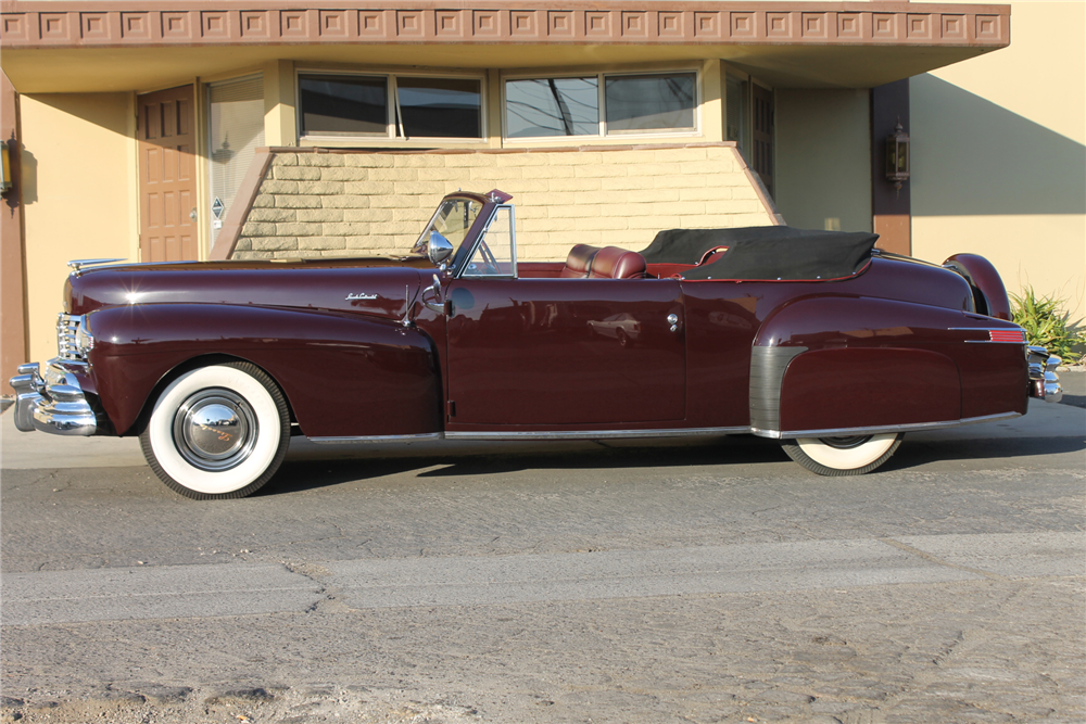 1947 LINCOLN CONTINENTAL CABRIOLET - Side Profile - 212117