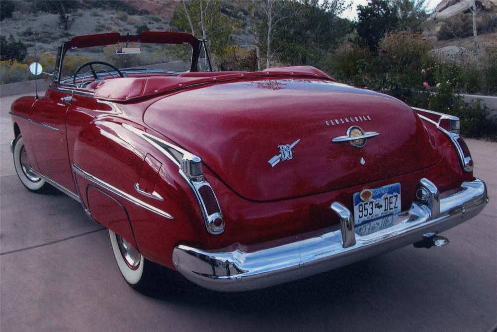 1950 OLDSMOBILE 88 CONVERTIBLE - Rear 3/4 - 21221
