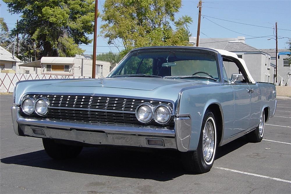 1962 LINCOLN CONTINENTAL 4 DOOR CONVERTIBLE - Front 3/4 - 21224