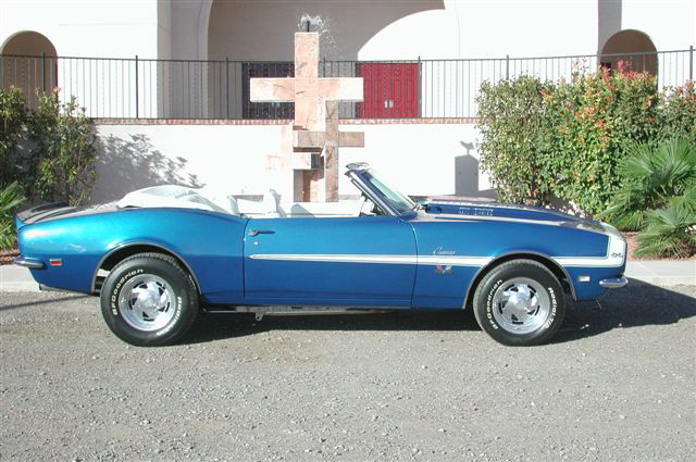 1968 CHEVROLET CAMARO SS CUSTOM CONVERTIBLE - Side Profile - 21239