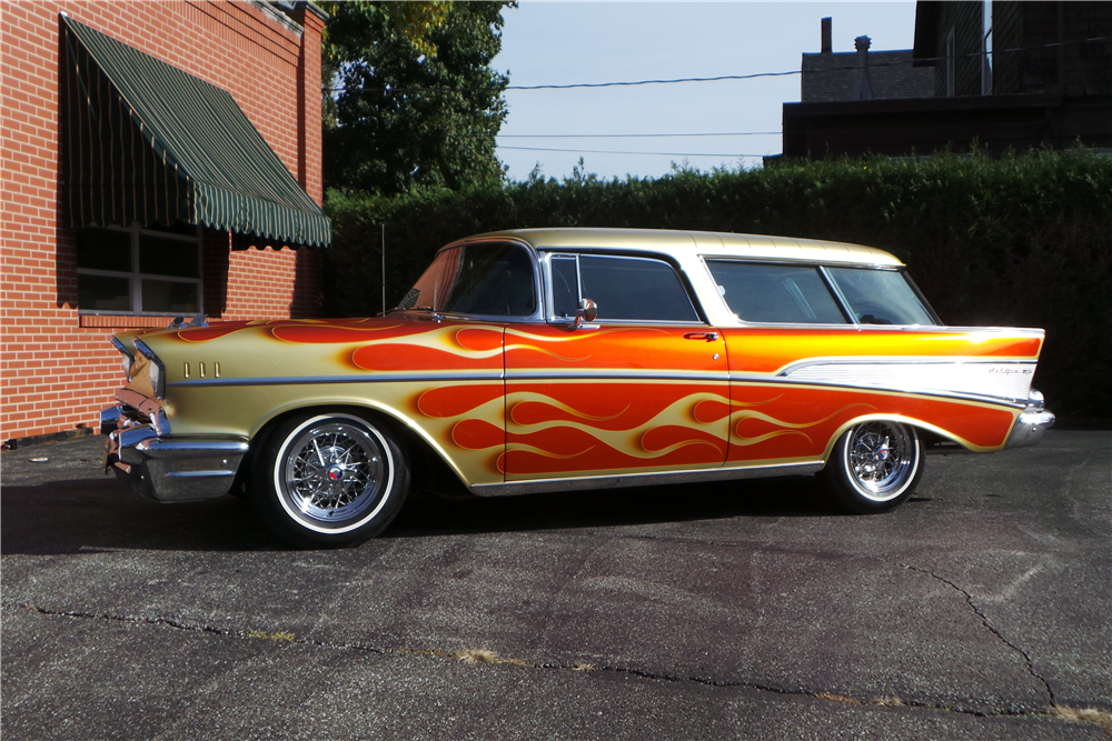 1957 CHEVROLET NOMAD CUSTOM WAGON - Side Profile - 212404