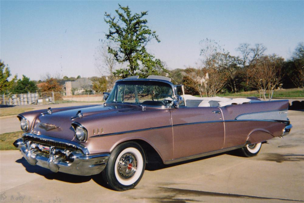 1957 CHEVROLET BEL AIR CONVERTIBLE - Side Profile - 21254