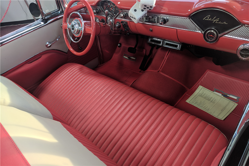 1955 CHEVROLET BEL AIR CUSTOM CONVERTIBLE - Interior - 212595
