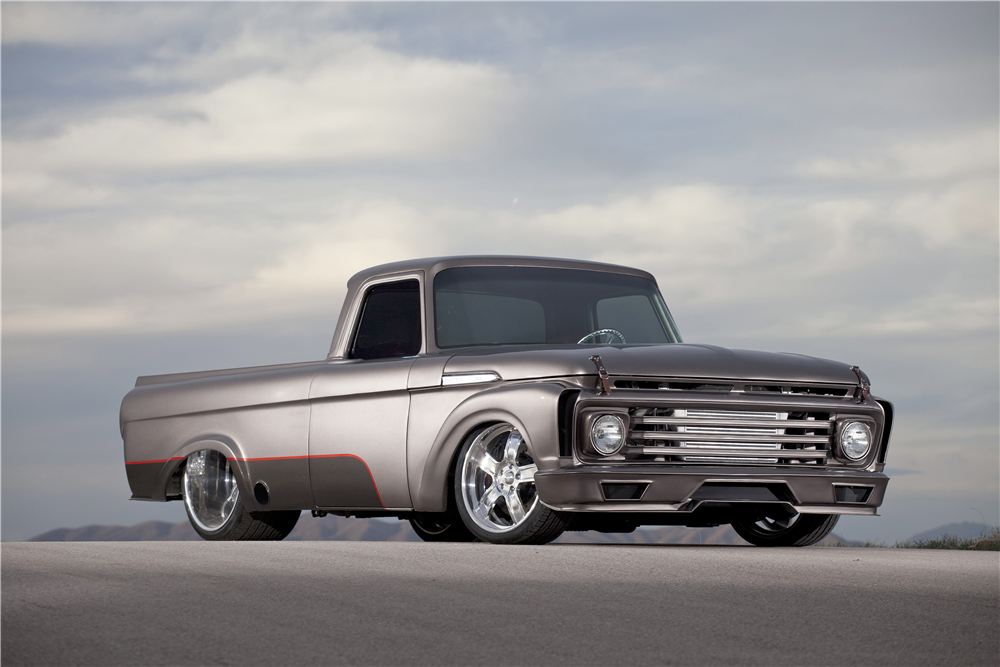 "1962 FORD F-100 CUSTOM PICKUP ""DJANGO"" - Front 3/4 - 212636"