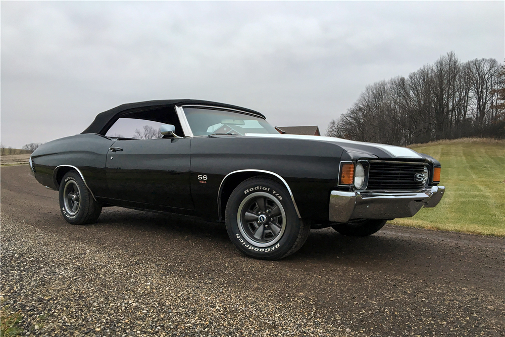 1972 CHEVROLET CHEVELLE SS 454 RE-CREATION CONVERTIBLE - Front 3/4 - 212639