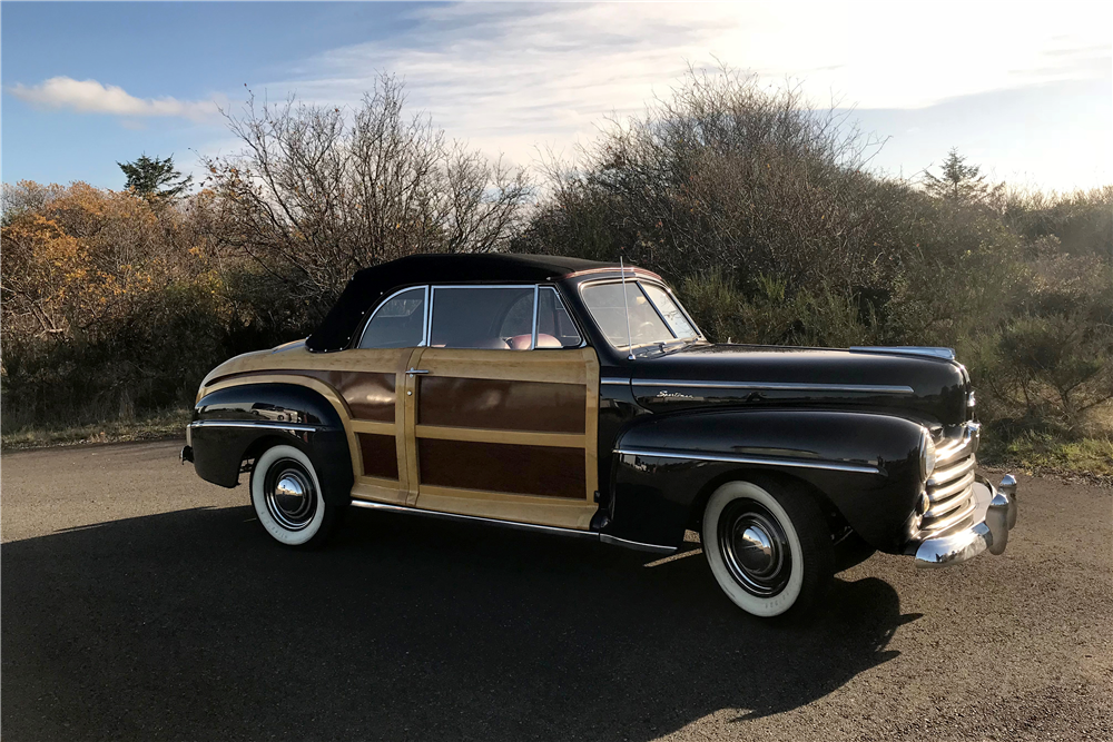 1948 FORD SPORTSMAN WOODY CONVERTIBLE - Front 3/4 - 212721