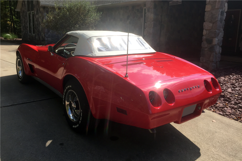1974 CHEVROLET CORVETTE 327/350 CONVERTIBLE - Rear 3/4 - 212730