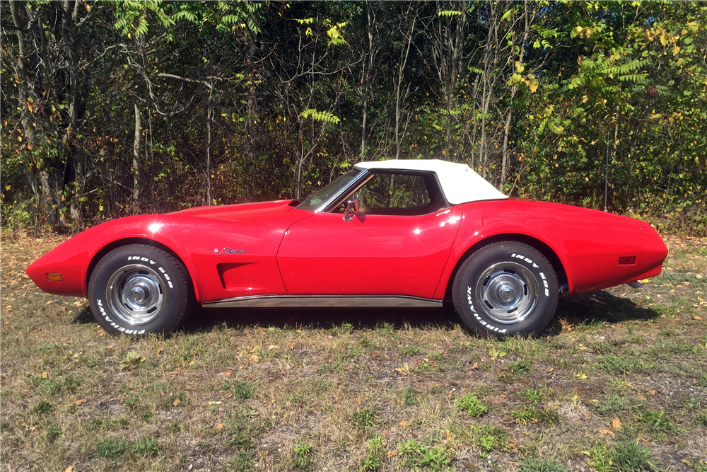 1974 CHEVROLET CORVETTE 327/350 CONVERTIBLE - Side Profile - 212730