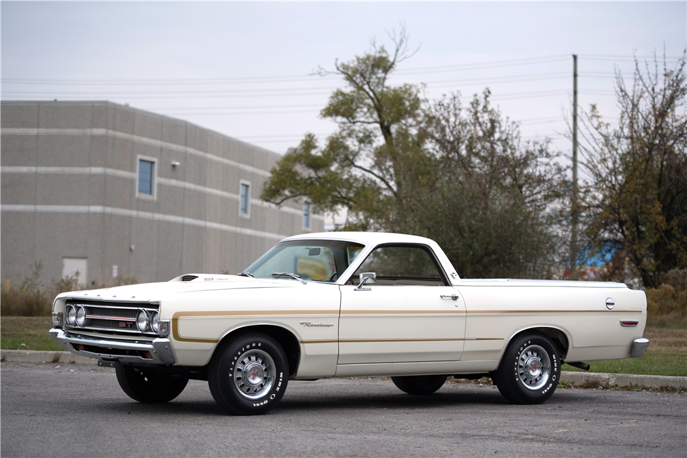 1969 FORD RANCHERO GT PICKUP - Front 3/4 - 212830