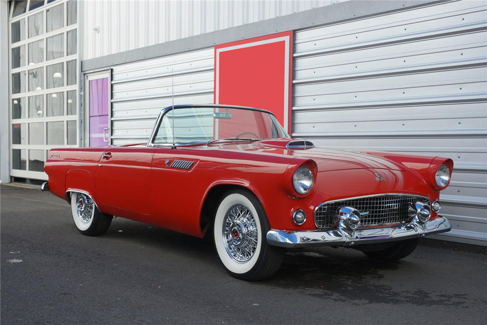 1955 FORD THUNDERBIRD CONVERTIBLE - Front 3/4 - 212858