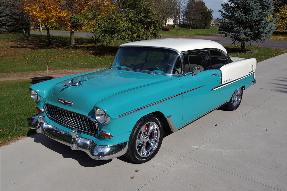 1955 CHEVROLET BEL AIR CUSTOM COUPE - Front 3/4 - 212865