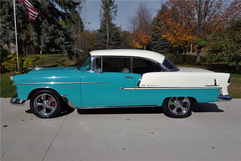 1955 CHEVROLET BEL AIR CUSTOM COUPE - Side Profile - 212865